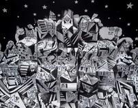 Pop up card - Illusion City