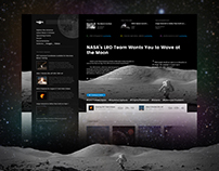 Astronomy Online Newspapers - Web Design Concept
