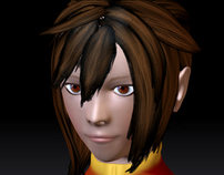 3D Character modelling: Rui Xin