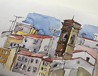 Urban sketching in Florence, Italy