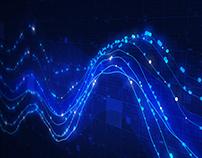 Data Graph on a Computer Screen 4K
