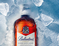 Ballantines Whiskey Product Advertising photography