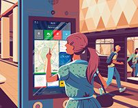 Navigation in Moscow Metro: interface concept
