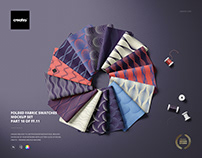 Folded Fabric Swateches Mockup Set (10/FFv.11)