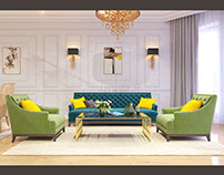 Villa Project in Azadliq Avenue.Livingroom