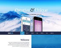 SANDOR Creative Portfolio WordPress Theme