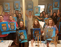 TRAVELING PAINTING PARTY: OWL IN A TREE!