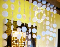 Capiz Paper Shell Bead Curtain