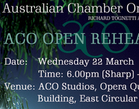 Australian Chamber Orchestra invitation