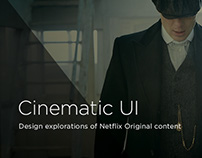Cinematic UI Explorations Netflix Originals