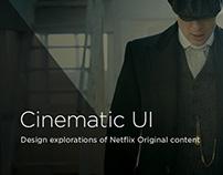 Cinematic UI Explorations Netflix Originals
