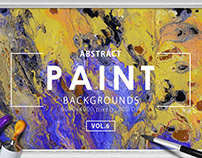 Abstract Paint Backgrounds Vol.6