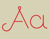 Guapa, a decorative display typeface.