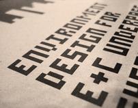 Guide Book Cover for E&C Environment Design