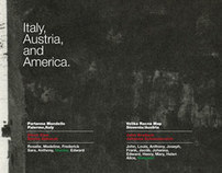 Italy, Austria, and America