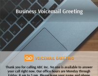 Voicemail greeting samples on behance business voicemail greetings example m4hsunfo