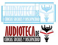 Logo Audioteca + merchandising y papeleria