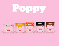 Poppy diapers - Packaging & brand identity