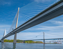Three bridges over the Forth