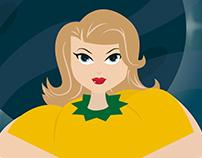 Affiche Rian Hughes stijl