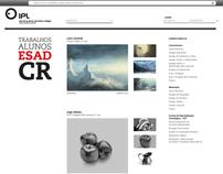 Site para expor trabalhos dos alunos da ESAD.CR