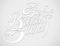 Breach of Silence Typographic Identity
