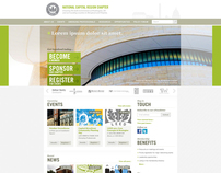Website redesign concepts for a green building org