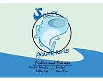 Salty Aquariums Postcard Design