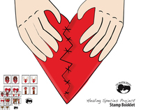Healing Species Project Stamp Booklet