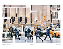 production of midtown, inkjet & plexi collage
