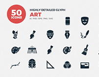 JI-Glyph Art Icons Set