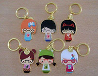 Momiji | Book Club Dolls enamel key chains