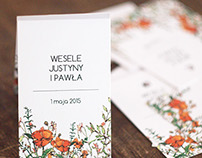 Flowery wedding | Justyna & Paweł | wedding branding