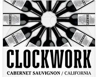 Clockwork Wines Cabernet Label, Carton, POS