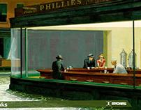 """The Nighthawks In A Rainy Night"""