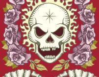 """Game """"Skull&Roses"""" Red"""