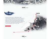 Mount Everest - Microsite UI/UX-Design Concept