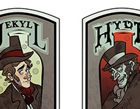 Jekyll & Hyde wine labels
