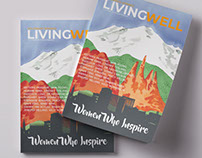 Living Well Magazine cover. Colorado. U.S.A