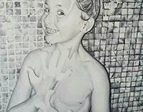 """""""smile"""" BIC ballpen drawing"""