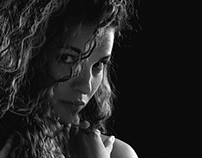 Tainá - Portrait Black And White