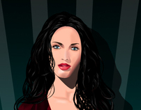 megan fox illustration
