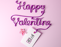 Ezzil 3D thread valentine