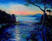 Broken Bow lake oils on canvas