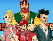 Mario 30th Anniversary – Hipster Mario Characters