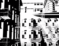 In progress motion graphic noir video