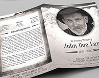 Vintage Funeral Program Booklet Template