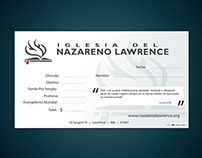 Envelopes for Iglesia del Nazareno Lawrence