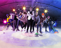Ad Campaign Ice Track Rotterdam