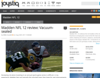 Madden NFL 12 Review: Vaccum-sealed